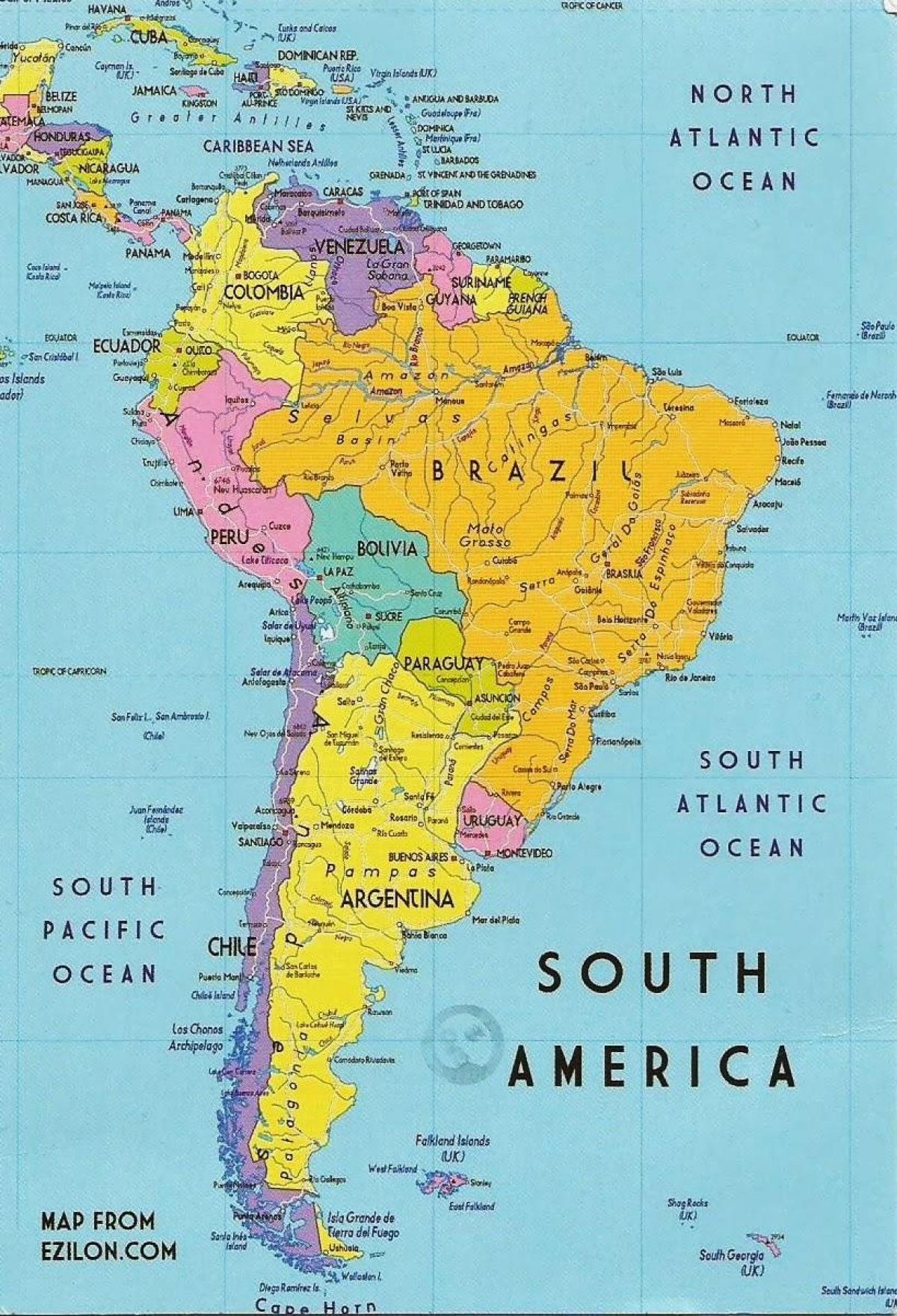 Gvajana Juzna Amerika Karta Gvajana Juzna Amerika Juzna Amerika